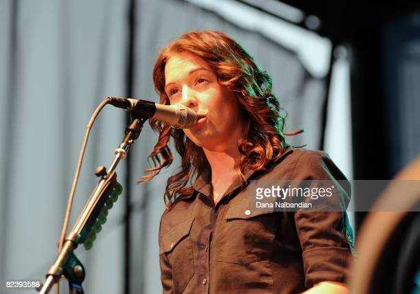 Brandi Carlile performs at the Mountain Music Festival at the Marymoor Amphitheater on August 16 2008 in Redmond Washington