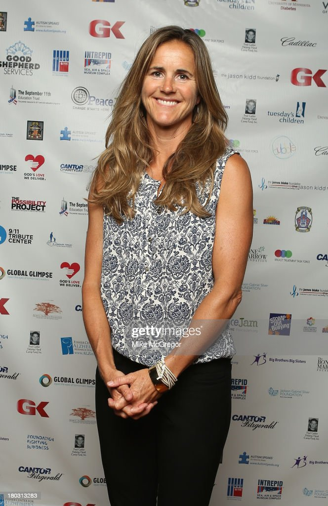 Brandi Chastain attends the Annual Charity Day Hosted By Cantor Fitzgerald And BGC at the Cantor Fitzgerald Office on September 11, 2013 in New York, United States.