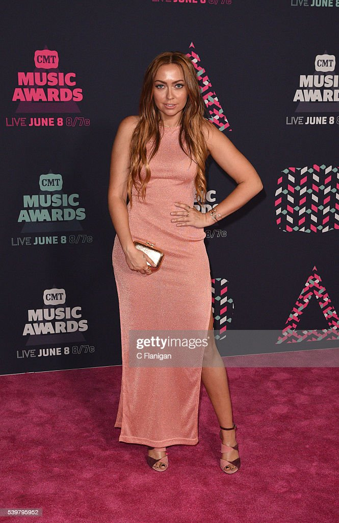 Brandi Cyrus attends the 2016 CMT Music awards at the Bridgestone Arena on June 8 2016 in Nashville Tennessee