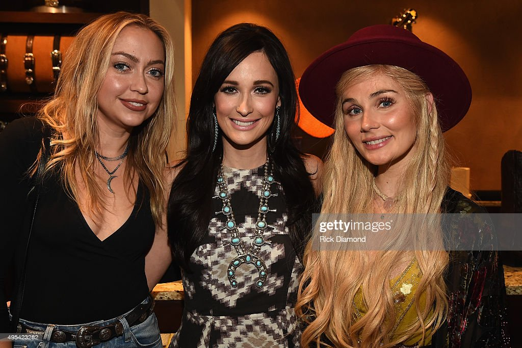 Brandi Cyrus Kacey Musgraves and Clare Bowen attend the 'Kacey for Lucchese' Collection Launch Event on November 2 2015 in Nashville Tennessee