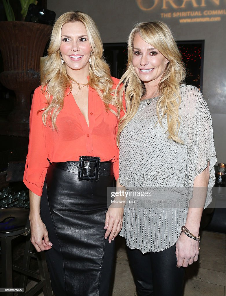 Brandi Glanville (L) and Taylor Armstrong attend the 'How Lavish Will Your 2013 Be?' event held at Sur Restaurant on January 15, 2013 in Los Angeles, California.
