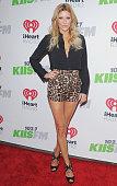 Brandi Glanville arrives at KIIS FM's Jingle Ball 2014 at Staples Center on December 5 2014 in Los Angeles California