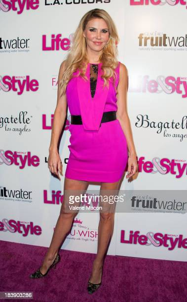 Brandi Glanville arrives at Life Style's Hollywood In Bright Pink Event Hosted By Giuliana Rancic at Bagatelle on October 9 2013 in Los Angeles...