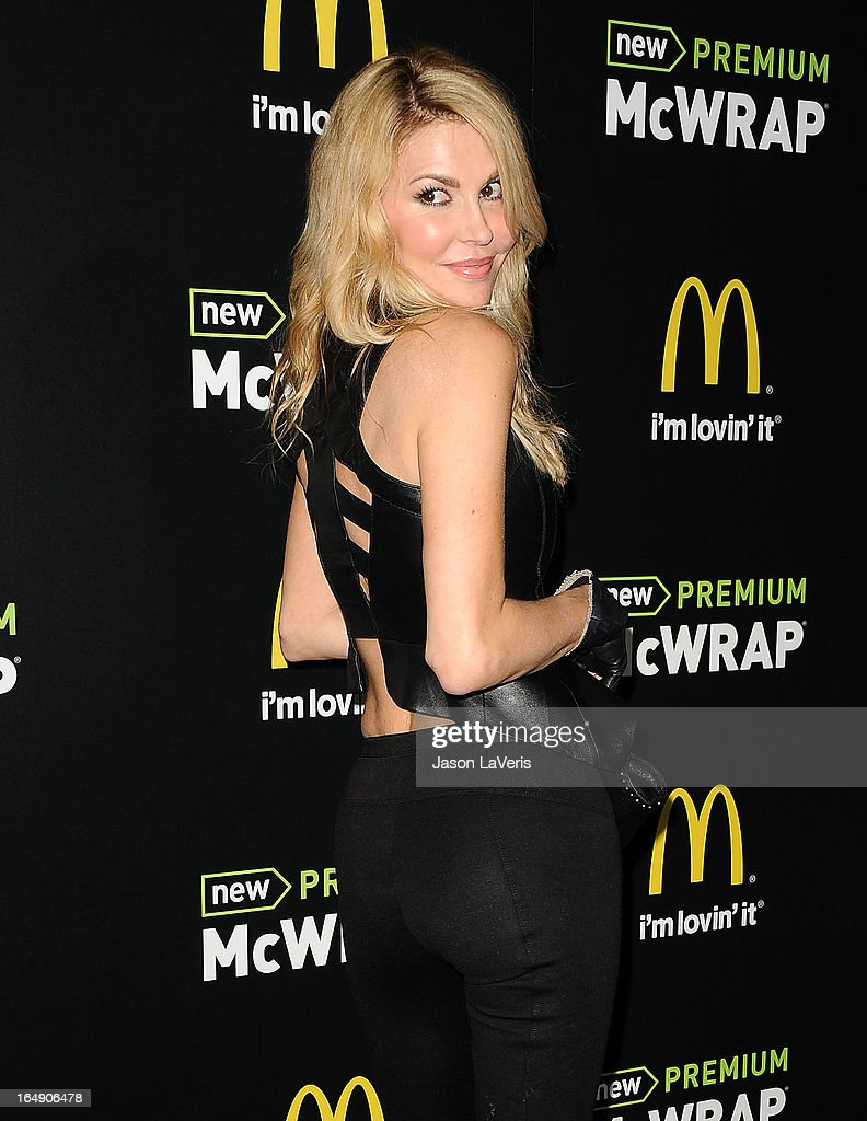 Brandi Glanville attends the McDonald's Premium McWrap launch party at Paramount Studios on March 28, 2013 in Hollywood, California.