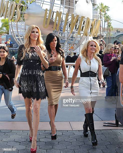 Brandi Glanville Carlton Gebbia and Kim Richards of 'Real Housewives Of Beverly Hills' visit 'Extra' at Universal Studios Hollywood on November 4...