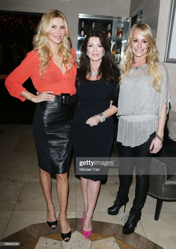 <a gi-track='captionPersonalityLinkClicked' href=/galleries/search?phrase=Brandi+Glanville&family=editorial&specificpeople=841250 ng-click='$event.stopPropagation()'>Brandi Glanville</a>, <a gi-track='captionPersonalityLinkClicked' href=/galleries/search?phrase=Lisa+Vanderpump&family=editorial&specificpeople=6834933 ng-click='$event.stopPropagation()'>Lisa Vanderpump</a> and <a gi-track='captionPersonalityLinkClicked' href=/galleries/search?phrase=Taylor+Armstrong&family=editorial&specificpeople=6903739 ng-click='$event.stopPropagation()'>Taylor Armstrong</a> attend the 'How Lavish Will Your 2013 Be?' event held at Sur Restaurant on January 15, 2013 in Los Angeles, California.