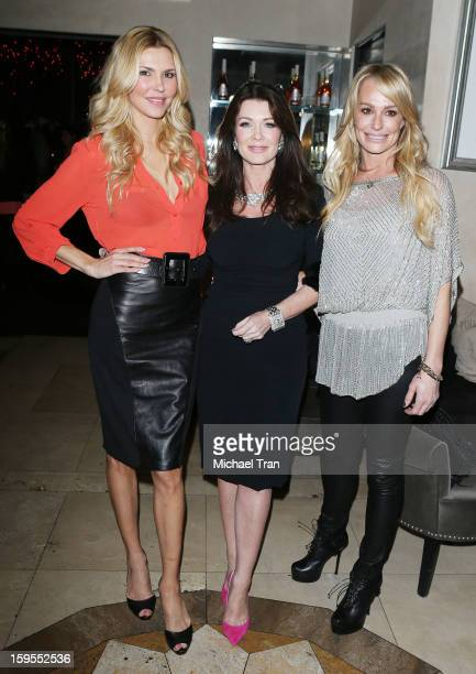 Brandi Glanville Lisa Vanderpump and Taylor Armstrong attend the 'How Lavish Will Your 2013 Be' event held at Sur Restaurant on January 15 2013 in...