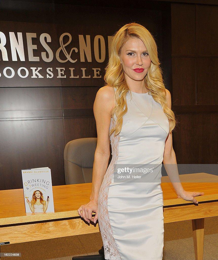 Brandi Glanville of The Real Housewives of Beverly Hills signs copies of her new book 'Drinking and Tweeting' at the Barnes & Noble bookstore at The Grove on February 20, 2013 in Los Angeles, California.