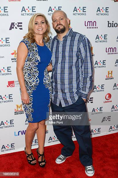 Brandi Passante and Jarrod Schulz of 'Storage Wars' attend AE Networks 2013 Upfront at Lincoln Center on May 8 2013 in New York City