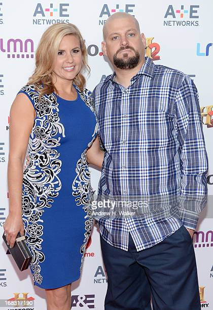 Brandi Passante and Jarrod Schulz of 'Storage Wars' attend the AE Networks 2013 Upfront on May 8 2013 in New York City