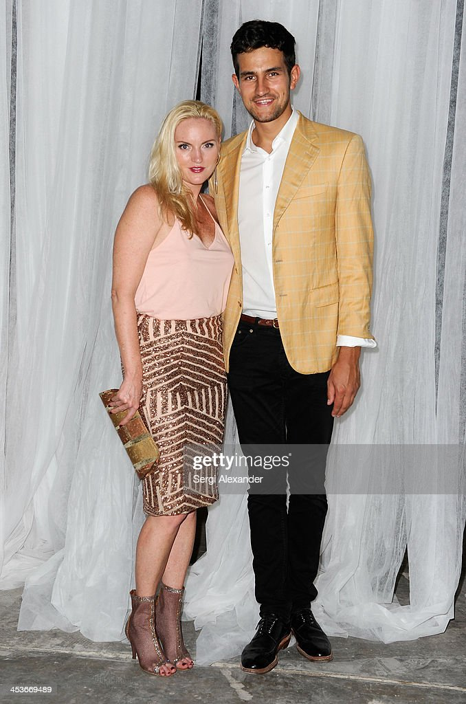 Brandi Reddick and Maximilian Lecki attend Flaunt Magazine and Wildfox Present a performance by Vanessa Beecroft hosted by Jimmy Sommers and Balthazar Getty for 'Affordable Care' at Mana Wynwood on December 4, 2013 in Miami, United States.