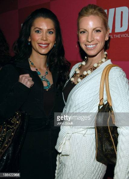 Brandi Sherwood and Liza Huber during Eve Ensler's 'The Good Body' Opening Night Benefit for VDay LA 2006 Red Carpet at Wadsworth Theatre in Los...