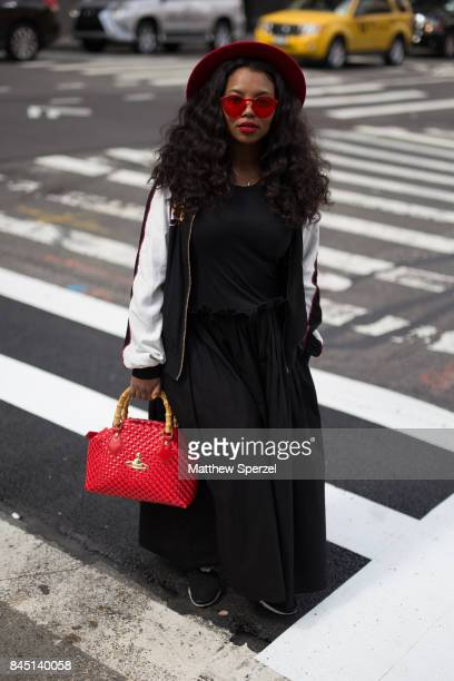 Brandi Welch is seen attending Son Jung Wan during New York Fashion Week wearing AVN Vivienne Westwood Nikes on September 9 2017 in New York City