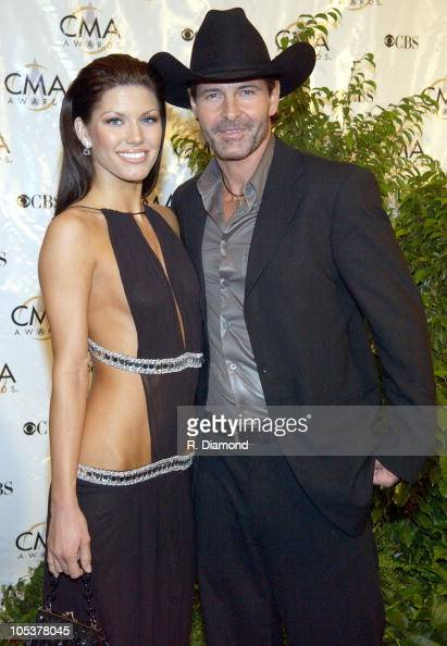 Brandi Williams and Keith Burns of Trick Pony during 38th Annual Country Music Awards Arrivals at Grand Ole Opry House in Nashville Tennessee United...