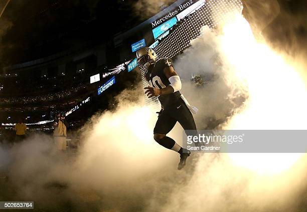 Brandin Cooks of the New Orleans Saints runs on the the field prior to a game againt the Detroit Lions at the MercedesBenz Superdome on December 21...