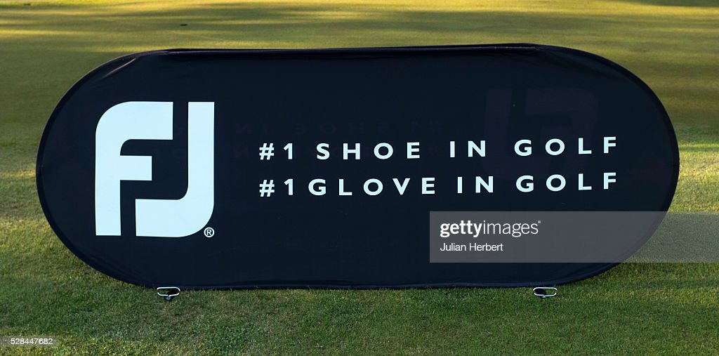 Branding board by the 1st tee during the PGA Professional Championship - West Qualifier at Burnham And Berrow Golf Club Club on May 5, 2016, in Burnham-On-Sea, England.