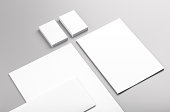 Photo. Template for branding identity. For graphic designers presentations and portfolios. Identity Mock-up isolated on gray background. Big identity set mock-up. Photo mock up.