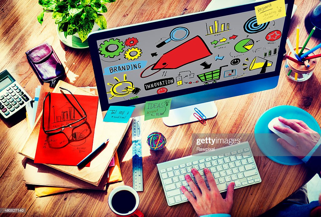 Branding Marketing Advertising Identity Business Trademark Conce : Stock Photo
