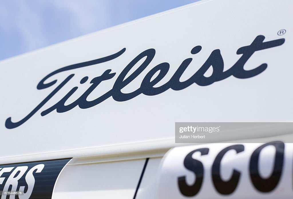 Branding on the score board during the PGA Professional Championship - West Qualifier at Burnham And Berrow Golf Club Club on May 5, 2016, in Burnham-On-Sea, England.