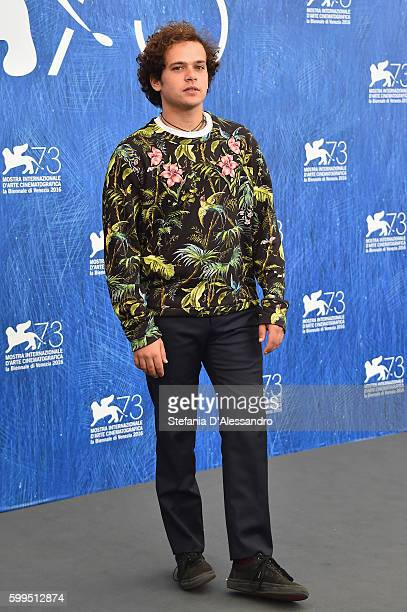 Brando Pacitto attends a photocall for 'Piuma' during the 73rd Venice Film Festival at Palazzo del Casino on September 5 2016 in Venice Italy