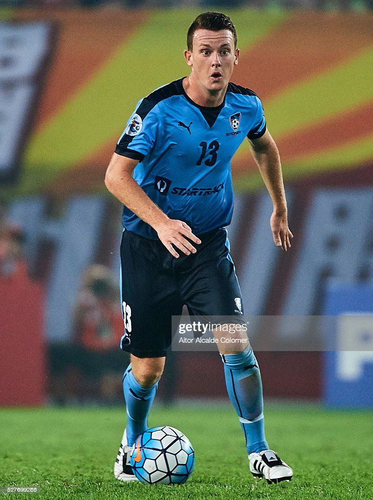Brandom O'Neill of Sydney FC in action during the AFC Asian Champions League match between Guangzhou Evergrande FC and Sydney FC at Tianhe Stadium on May 3, 2016 in Guangzhou, China.