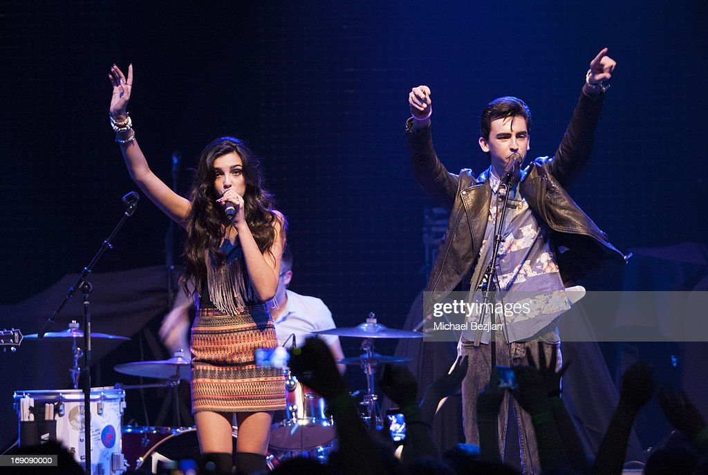 Brandon and Savannah open for R5 at House of Blues Sunset Strip on May 19, 2013 in West Hollywood, California.