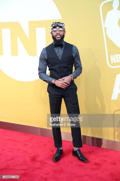 Brandon Armstrong arrives at the red carpet at the NBA Awards Show on June 26 2017 at Basketball City at Pier 36 in New York City New York NOTE TO...