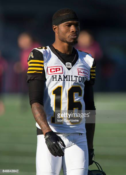 Brandon Banks of the Hamilton TigerCats in Canadian Football League Action at TD Place Stadium in Ottawa Canada on Saturday September 9 2017 The...