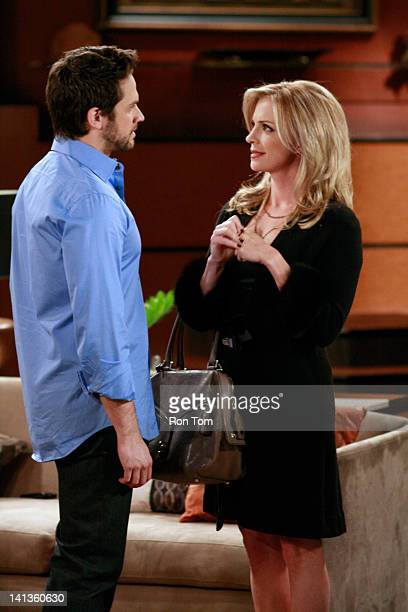 HOSPITAL Brandon Barash and Jen Lilley in a scene that airs the week of March 19 2012 on ABC Daytime's 'General Hospital' 'General Hospital' airs...