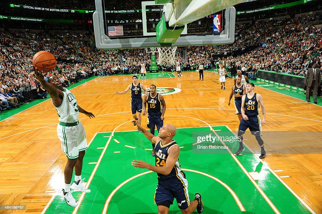 <a gi-track='captionPersonalityLinkClicked' href=/galleries/search?phrase=Brandon+Bass&family=editorial&specificpeople=233806 ng-click='$event.stopPropagation()'>Brandon Bass</a> #30 of the Boston Celtics drives to the basket during the game against the Utah Jazz on November 6, 2013 at the TD Garden in Boston, Massachusetts.