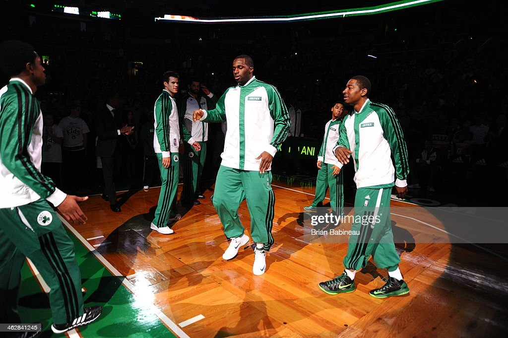<a gi-track='captionPersonalityLinkClicked' href=/galleries/search?phrase=Brandon+Bass&family=editorial&specificpeople=233806 ng-click='$event.stopPropagation()'>Brandon Bass</a> #30 of the Boston Celtics is introduced before the game against the Memphis Grizzlies on November 27, 2013 at the TD Garden in Boston, Massachusetts.