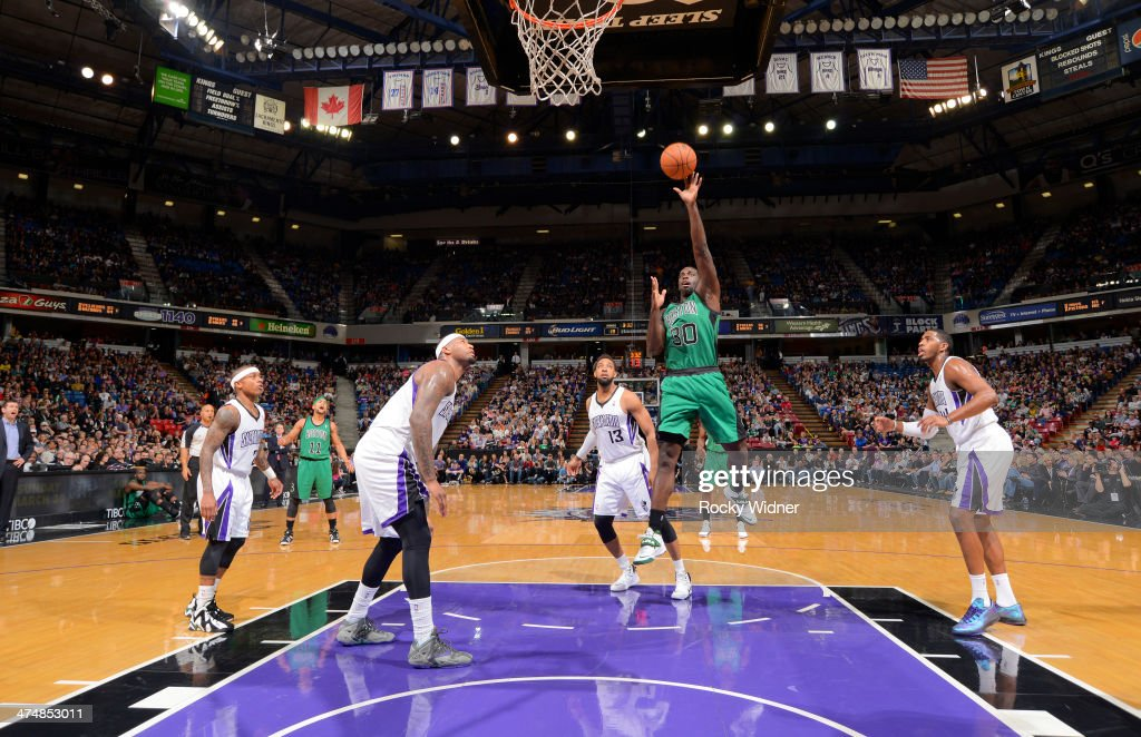 <a gi-track='captionPersonalityLinkClicked' href=/galleries/search?phrase=Brandon+Bass&family=editorial&specificpeople=233806 ng-click='$event.stopPropagation()'>Brandon Bass</a> #30 of the Boston Celtics puts up a shot against the Sacramento Kings on February 22, 2014 at Sleep Train Arena in Sacramento, California.