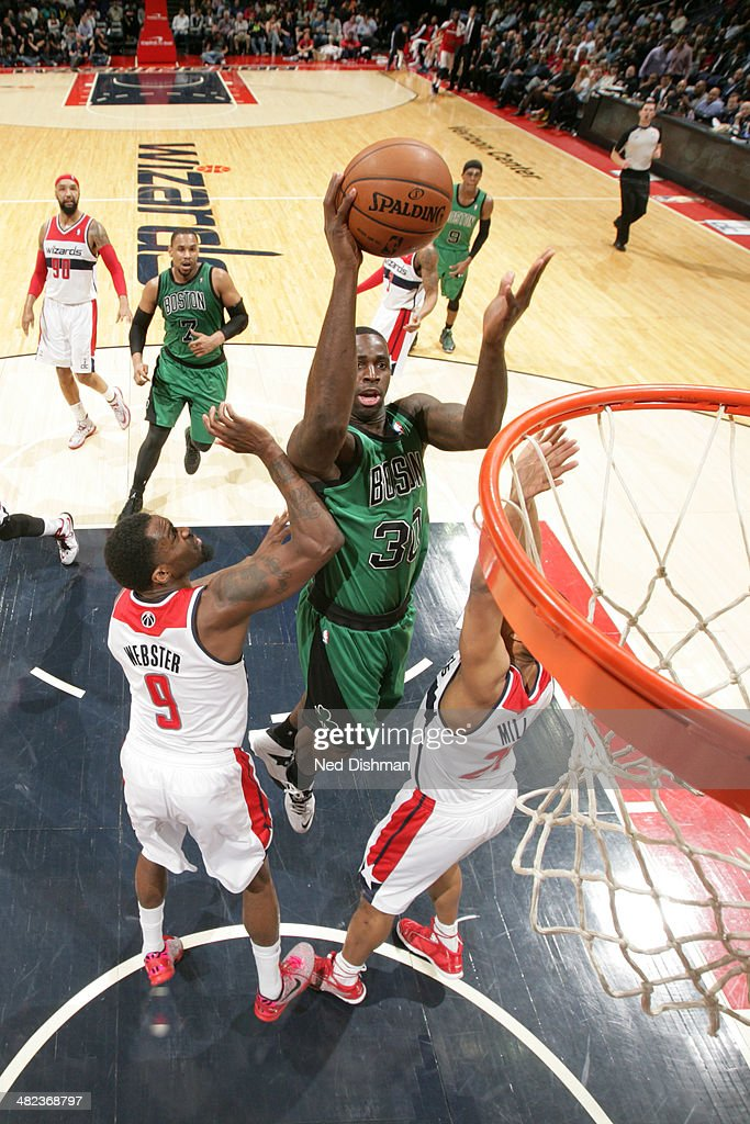 <a gi-track='captionPersonalityLinkClicked' href=/galleries/search?phrase=Brandon+Bass&family=editorial&specificpeople=233806 ng-click='$event.stopPropagation()'>Brandon Bass</a> #30 of the Boston Celtics shoots against the Washington Wizards at the Verizon Center on April 2, 2014 in Washington, DC.