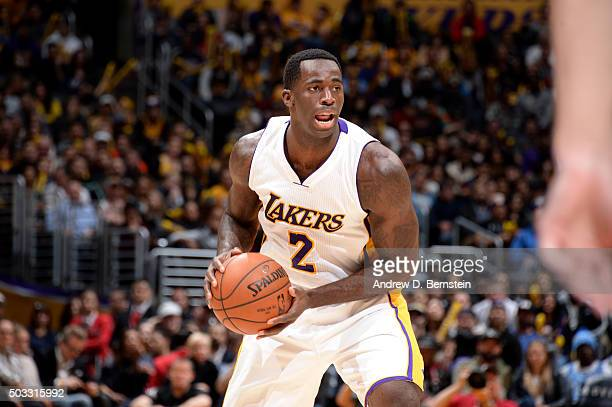 Brandon Bass of the Los Angeles Lakers handles the ball during the game Suns on January 3 2016 at STAPLES Center in Los Angeles California NOTE TO...