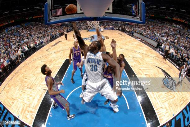 Brandon Bass of the Orlando Magic shoots against the Phoenix Suns on November 18 2010 at the Amway Center in Orlando Florida NOTE TO USER User...