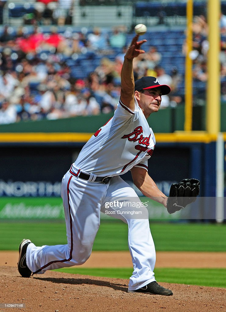 <a gi-track='captionPersonalityLinkClicked' href=/galleries/search?phrase=Brandon+Beachy&family=editorial&specificpeople=7199899 ng-click='$event.stopPropagation()'>Brandon Beachy</a> of the Atlanta Braves pitches against the Milwaukee Brewers at Turner Field on April 15, 2012 in Atlanta, Georgia. All uniformed team members are wearing jersey number 42 in honor of Jackie Robinson Day.