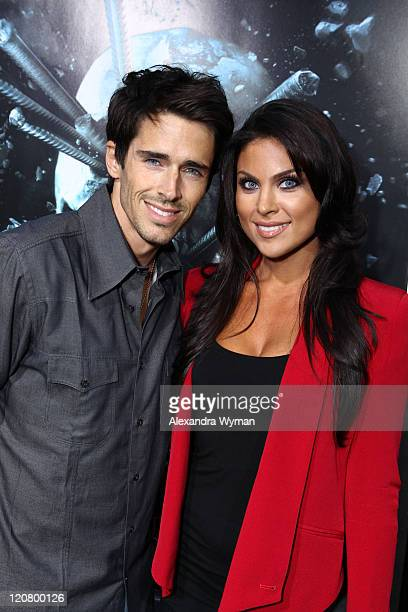 Brandon Beemer and Nadia Bjorlin arrive at The Final Destination 5 Los Angeles Premiere Red Carpet on August 10 2011 in Hollywood California