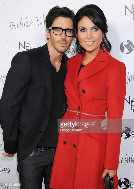 Brandon Beemer and Nadia Bjorlin arrive at the Los Angeles Premiere of 'Burning Palms' at the Arclight Hollyood Theatre on January 12 2011 in...