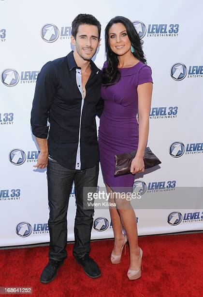 Brandon Beemer and Nadia Bjorlin attend 'Divorce Invitation' Los Angeles Premiere at Arena Cinema Hollywood on May 12 2013 in Hollywood California