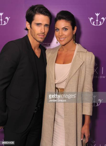 Brandon Beemer and Nadia Bjorlin attend the Pixie Press Launch And 'About Face' Book Release at The London Hotel on February 11 2010 in West...