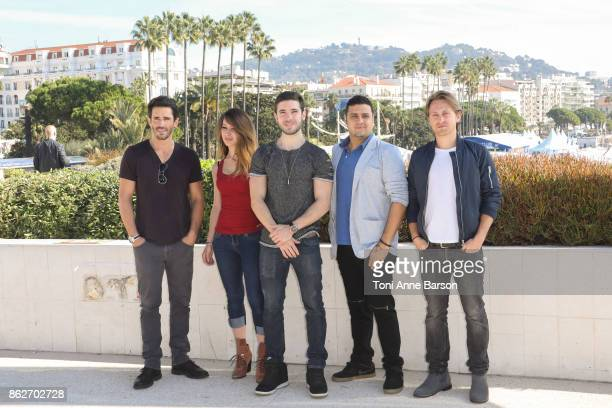 Brandon Beemer Celeste Fianna Kristos Andrew Gregori J Martin and Eric Nelsen attend photocall for ' ' as part of MIPCOM 2017 at the Palais des...