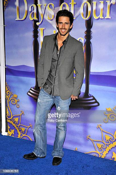 Brandon Beemer poses for a picture at the 'Days Of Our Lives' 45th Anniversary Party held at The House Of Blues on November 6 2010 in West Hollywood...