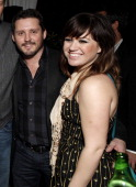 Brandon Blackstock and Kelly Clarkson attend Warner Music Group Grammy Celebration hosted by InStyle at Chateau Marmont on February 12 2012 in Los...