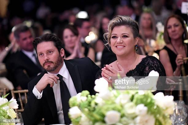Brandon Blackstock and singer/songwriter Kelly Clarkson attend Muhammad Ali's Celebrity Fight Night XXI at the JW Marriott Phoenix Desert Ridge...