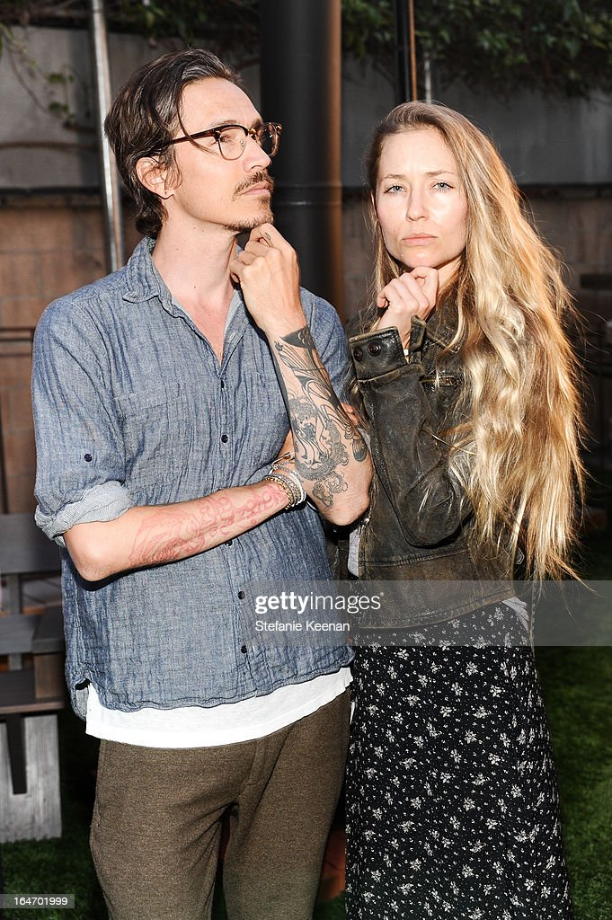 <a gi-track='captionPersonalityLinkClicked' href=/galleries/search?phrase=Brandon+Boyd&family=editorial&specificpeople=182443 ng-click='$event.stopPropagation()'>Brandon Boyd</a> and Baelyn Elspeth attend TOMS And Haitian Activist Bryn Mooser Host A Private Event To Celebrate Haitian Culture at TOMS Flagship Store on March 26, 2013 in Venice, California.