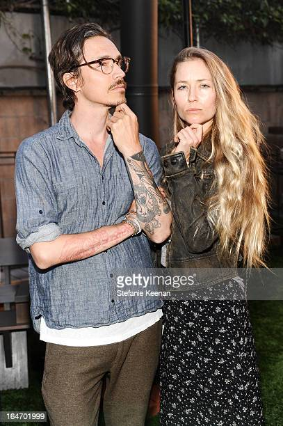 Brandon Boyd and Baelyn Elspeth attend TOMS And Haitian Activist Bryn Mooser Host A Private Event To Celebrate Haitian Culture at TOMS Flagship Store...