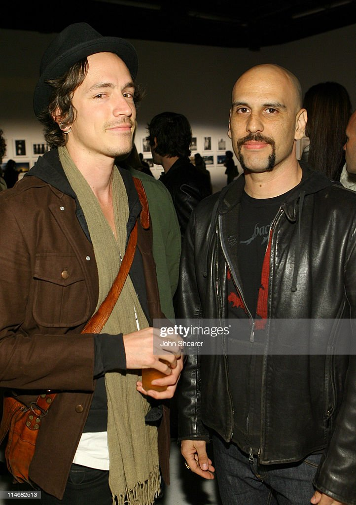 Brandon Boyd and Dave Kushner during Brian Bowen Smith, Brent Bolthouse and Brandon Boyd Art and Photography Show at Quixote Studios at Quixote Studios in Los Angeles, California, United States.