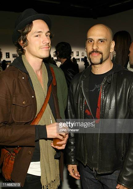 Brandon Boyd and Dave Kushner during Brian Bowen Smith Brent Bolthouse and Brandon Boyd Art and Photography Show at Quixote Studios at Quixote...