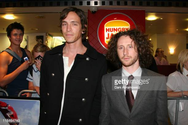 Brandon Boyd and Mark Einzinger during ''Jackass Number Two'' Sydney Premiere at Greater Union George St Cinemas in Sydney NSW Australia