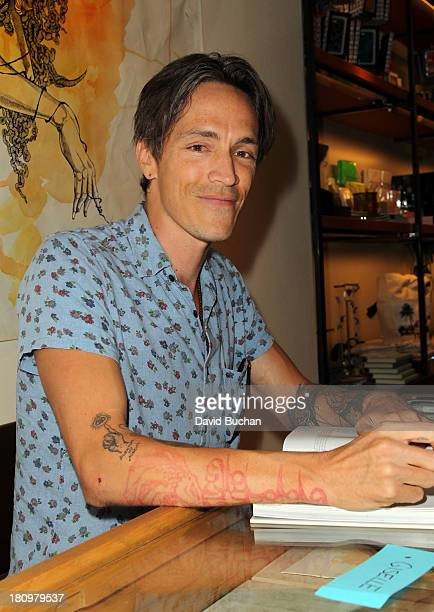Brandon Boyd attends his book signing for 'So The Echo' at Marc Jacobs Bookmarc on September 18 2013 in Los Angeles California